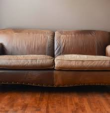 Rustic Leather Sofa by Rustic Lodge Style Leather Sofa By La Z Boy Ebth