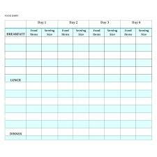 printable daily food intake journal template medical journal template daily food intake chart word