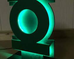 green lantern neon light tabletop night light etsy