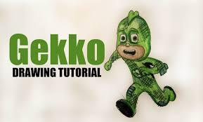 cartoon series draw disney jr u0027s pj masks gekko drawing