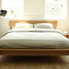 white oak bed wood bedroom furniture simple and stylish japanese