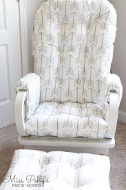 Slipcover For Glider And Ottoman How To Sew A Rocking Chair Slipcover Chair Slipcovers Rocking