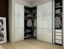 Frosted Glass Closet Sliding Doors Modern Closet With Frosted Glass Sliding Closet Doors Bamboo