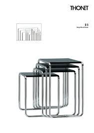 Esszimmerst Le B Ware Thonet Satztischset B 9 Von Marcel Breuer 1925 26 Designermöbel