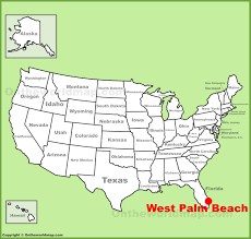 West Palm Beach Map West Palm Beach Location On The U S Map