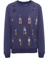 sweater house house of lipstick embellished sweater available at jules b