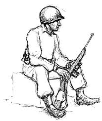 army soldier coloring pages an army man sitting with carbine coloring pages bulk color