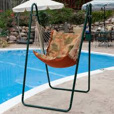 Brazilian Hammock Chair Soft Comfort Hammock Chair And Stand Palm Stripe Green Walmart Com