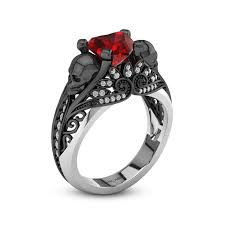 skull wedding ring sets engagement rings bridal sets wedding ring sets wedding rings