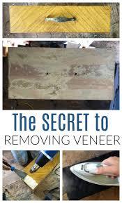 how to wood veneer furniture the trick to removing veneer from wood furniture diy
