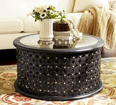 metal round coffee table iron wood