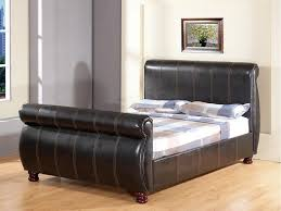 King Size Leather Sleigh Bed King Size Leather Sleigh Bed Bonners Furniture