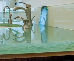 Solid Glass Walls  Nuelegance - Solid glass backsplash