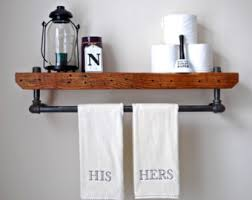 Wrought Iron Bathroom Shelves Industrial Shelf Etsy
