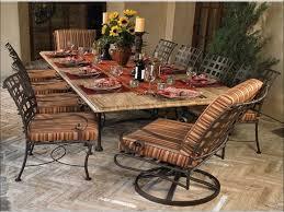Iron Patio Dining Set - kitchen rod iron patio chairs mosaic kitchen table wrought iron