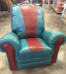 turquoise red swivel rocker recliner chair
