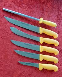 professional knife set 6 pcs butcher knife by kochmesser burgvogel