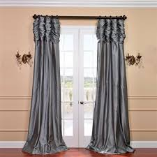 Brentwood Originals Curtains Astoria Grand Hallman Ruched Faux Silk Taffeta Thermal Rod Pocket