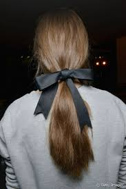 ribbon ponytail easy hairstyle inspiration 5 everyday looks from the runway