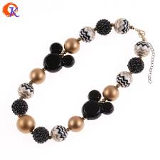 silver ball beads necklace images 2pcs lot making kids handmade black yellow pearl chunky bubblegum jpg