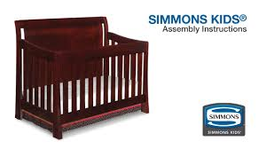 Simmons Convertible Crib Simmons Madisson Crib N More Assembly