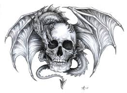 42 best dragon and skull tattoo designs images on pinterest