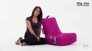 Big Joe Bean Bag Couch Comfort Research Big Joe Video Bean Bag Lounger Youtube