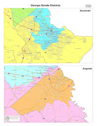 Savannah Map Geography Georgia Senate Districts Savannah And Augusta General