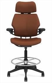 Humanscale Office Chair Custom Humanscale Freedom Drafting Stool In Leather