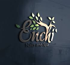modern upmarket logo design for enchi nails and spa by monreisan