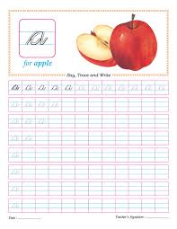cursive small letter a practice worksheet download free cursive