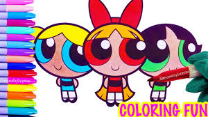 powerpuff girls blossom bubbles buttercup coloring page fun
