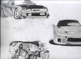 drift cars drawings rx7 drawings drifting com