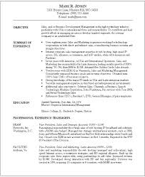 resume samples for sales and marketing gallery creawizard com