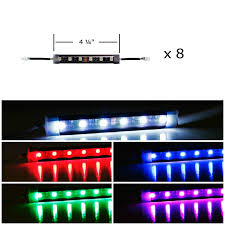 amazon com ijdmtoy 8pcs rgb multi color led motorcycle ground
