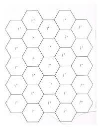 master hexagon template one inch pdf quilt patterns pinterest