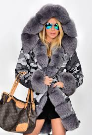 uk women u0027s winter faux fur coat military jacket thick warm parka