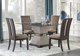 chocolate dining room table drayton chocolate brown 5 pc dining room glass top contemporary
