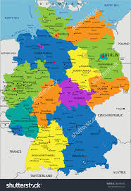 geographical map of germany political map germany major tourist attractions maps
