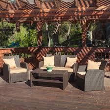 shop best selling home decor sanger 4 piece wicker patio