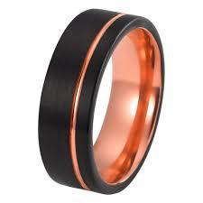mens black rings mens gold wedding band tungsten wedding rings