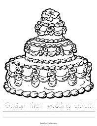 wedding cake outline design their wedding cake worksheet twisty noodle