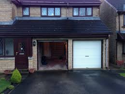 installation of garage door hormann lpu40 m ribbed design sectional garage door installed in