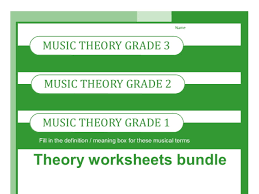 music theory worksheets for grades one two and three by