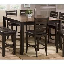 counter height dining table with leaf brown counter height dining table elliott rc willey furniture store
