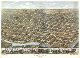 Dayton Ohio Map by Dayton Ohio 1870