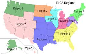 World Regions Map by List Of Elca Synods Wikipedia