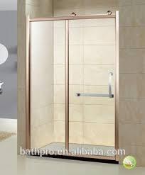 Gold Shower Doors Gold Sliding Door Tempered Glass 6mm Shower Enclosure Buy