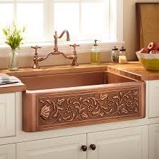 Farm Sink Kitchen Kitchen 33 Vine Design Copper Farmhouse Sink Kitchen In