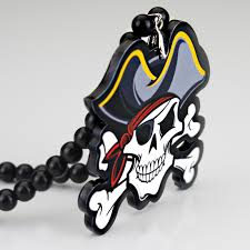 caribbean captain skull badge fashion pendant car styling